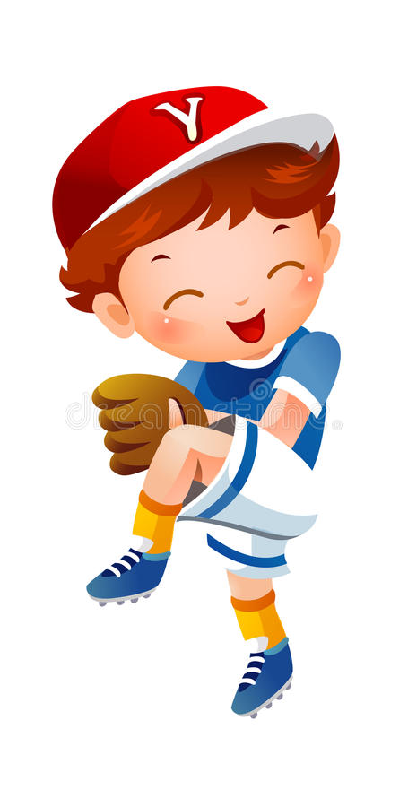 Brocca di baseball illustrazione di stock