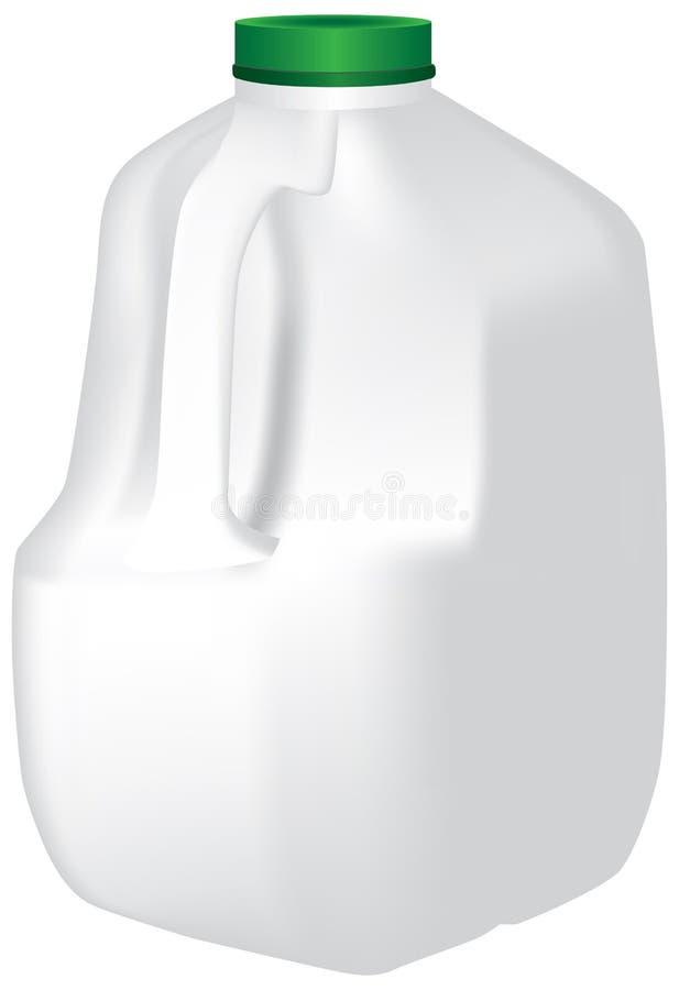 Brocca di gallone di latte illustrazione vettoriale