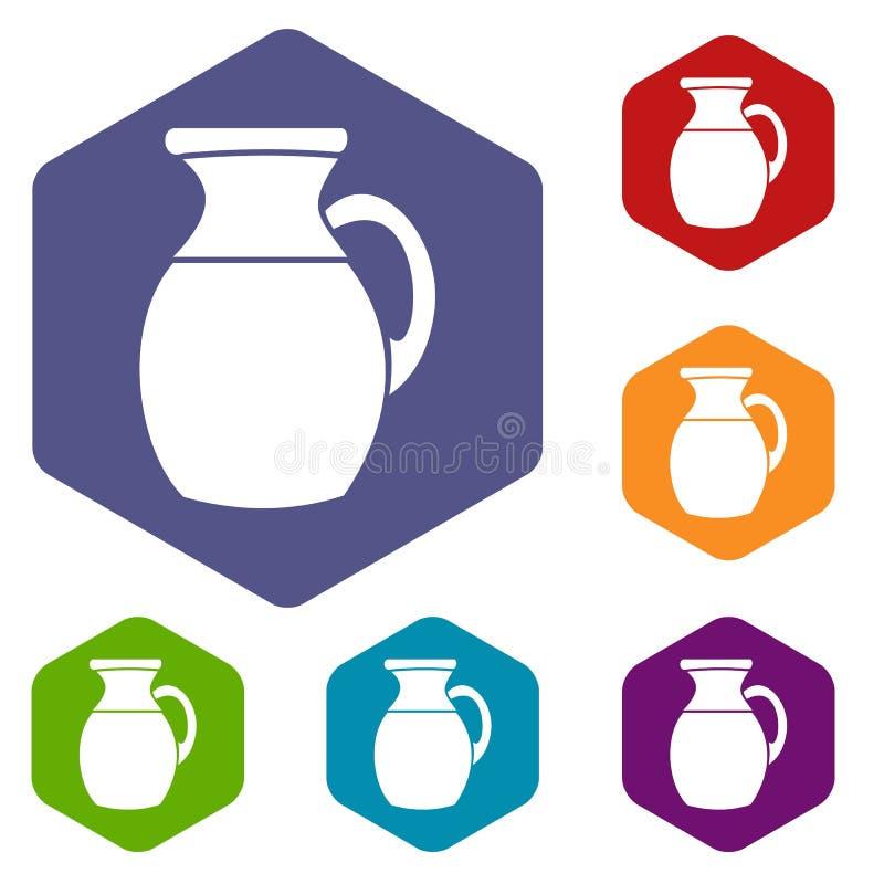 Download Brocca Di Icone Del Latte Messe Illustrazione Vettoriale - Illustrazione di isolato, breakfast: 117979046