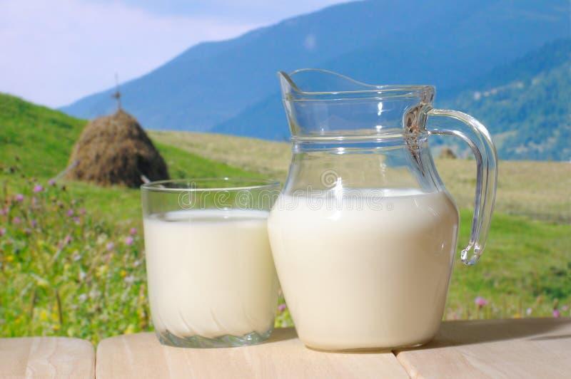 Brocca di latte fotografia stock