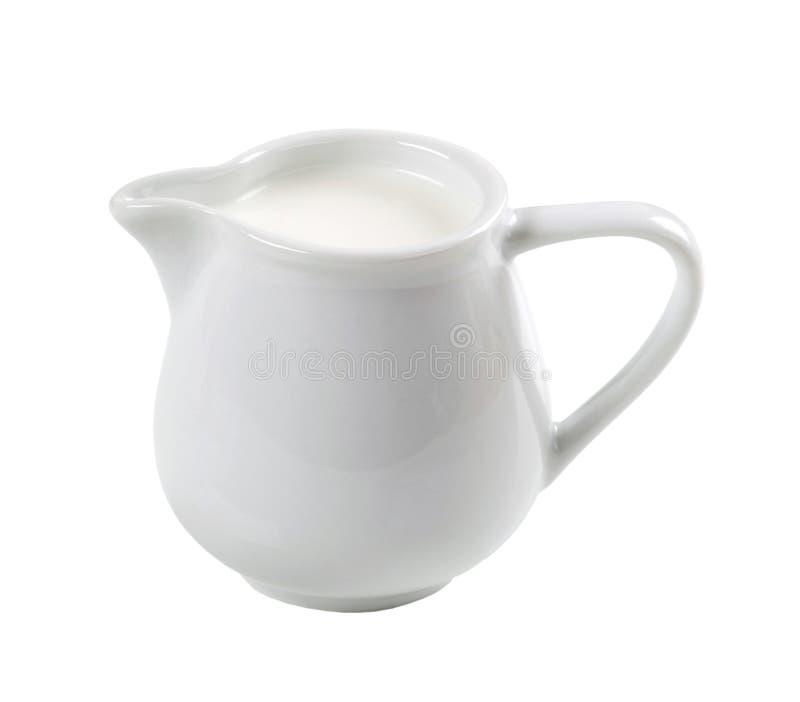 Brocca di latte fresco fotografia stock