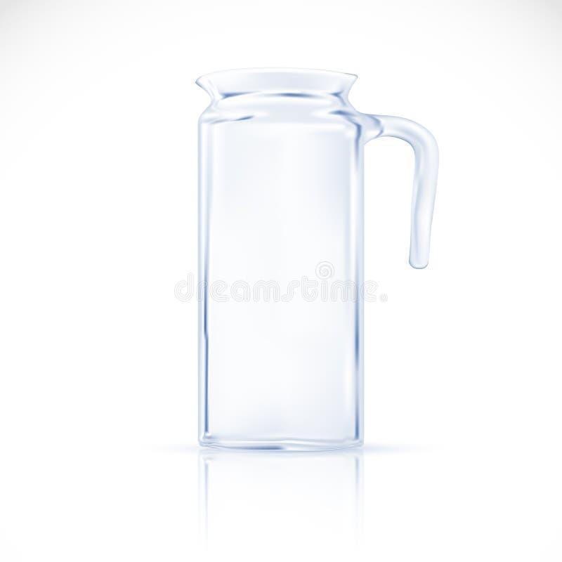 Brocca di vetro. illustrazione di stock