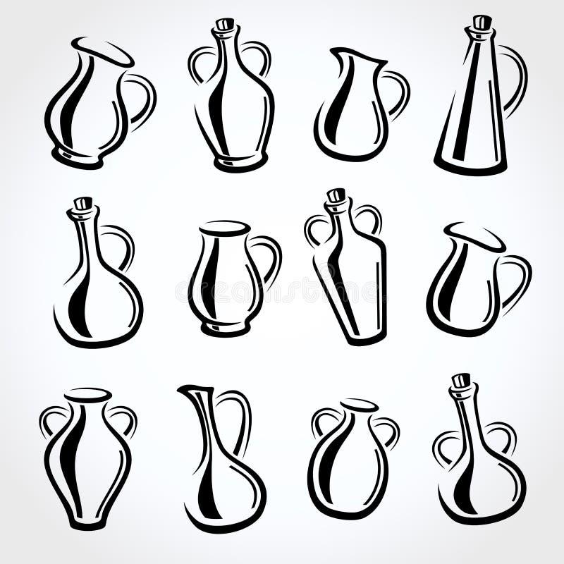 Brocche messe Vettore illustrazione di stock