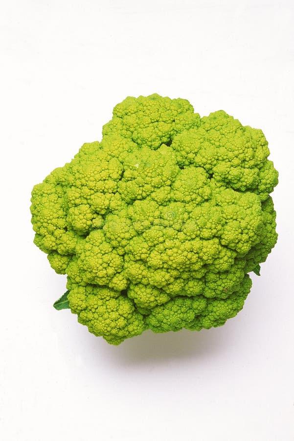 Broccoflower met groene verwijderde bladeren royalty-vrije stock foto