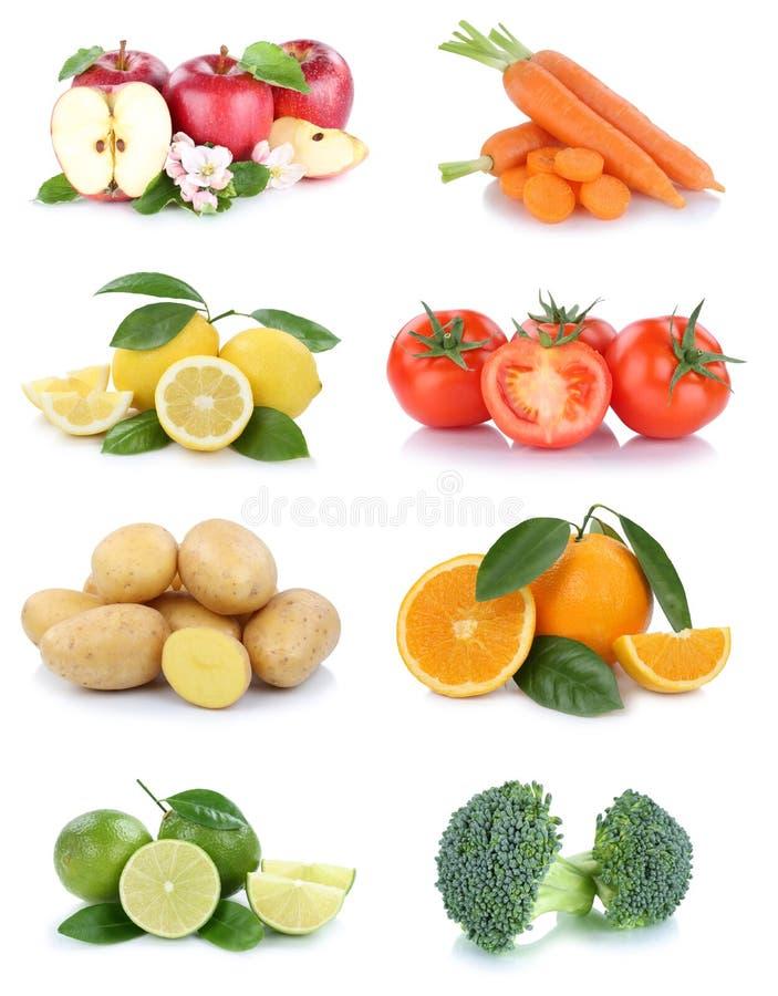 Broccol томатов апельсинов яблок собрания фруктов и овощей стоковое изображение rf