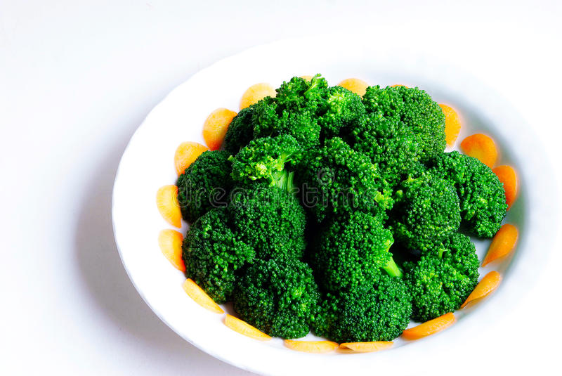 Broccoli. Isolated on white background royalty free stock photography