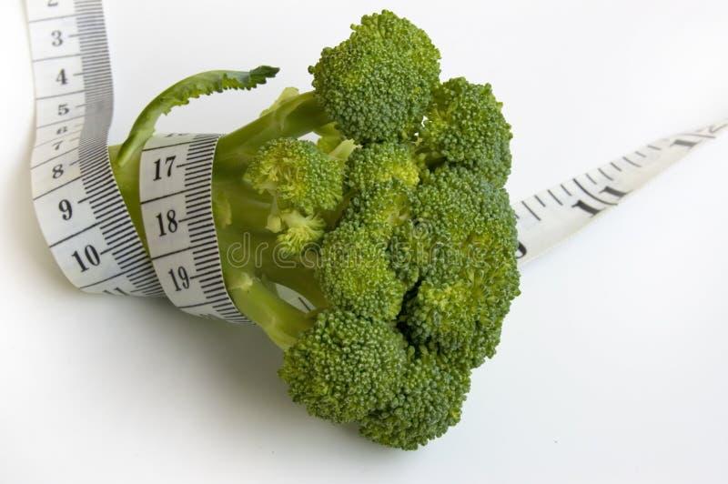Broccoli avec la bande de mesure images libres de droits