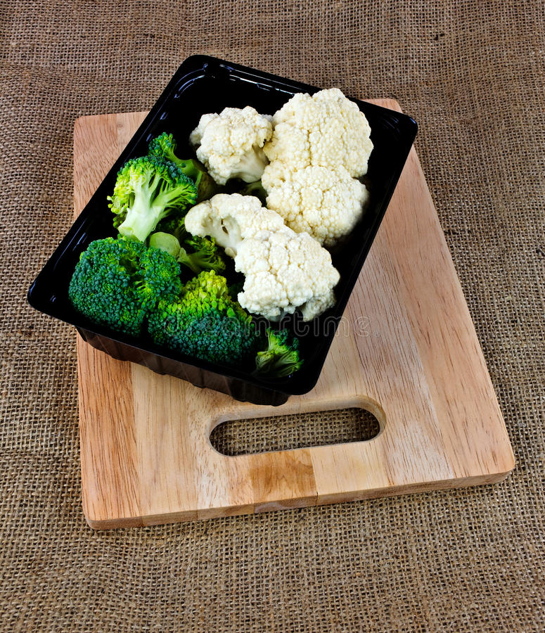 Download Box Of Broccoli And Cauliflower Stock Images - Image: 28052134