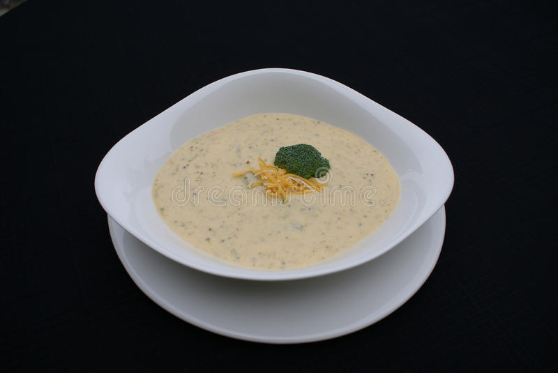 Broccoli and Cheddar Soup stock image