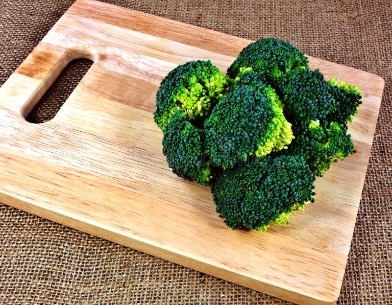 Broccoli on a chopping board