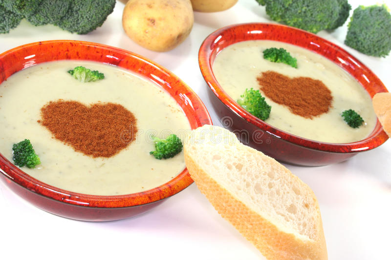 Download Broccoli cream soup stock photo. Image of vegetables - 19703580