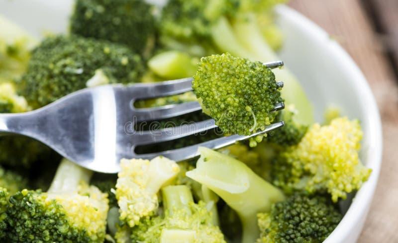 Broccoli cucinati freschi fotografie stock libere da diritti
