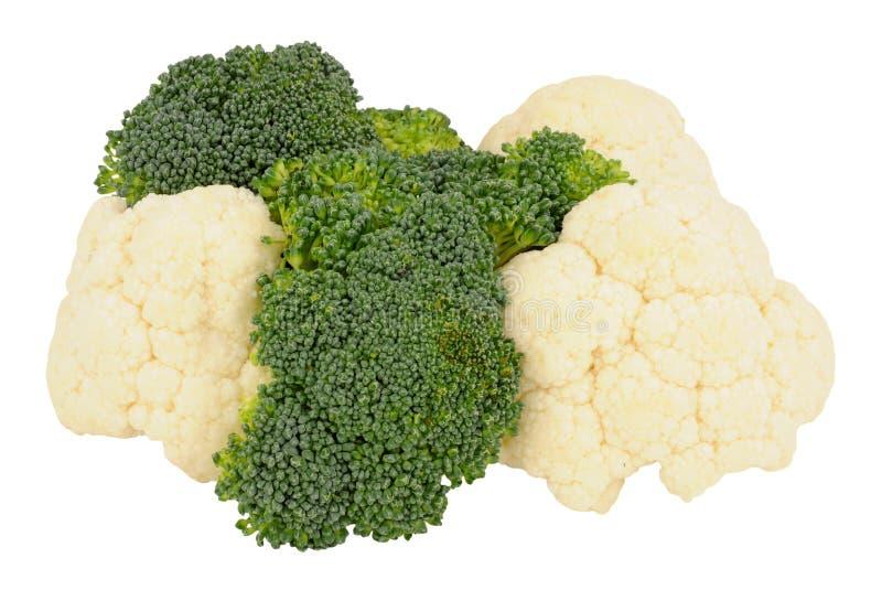 Broccoli e cavolfiore fotografie stock