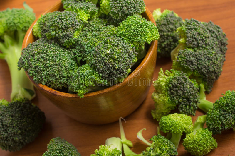 Broccoli in een kom royalty-vrije stock afbeeldingen