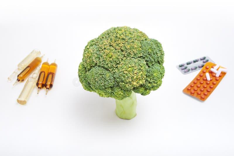 Broccoli et drogues image libre de droits