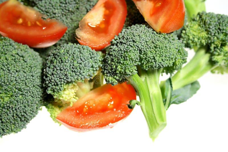 Broccoli et tomate image libre de droits