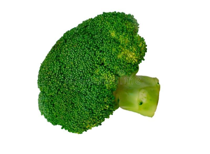 Broccoli för grön kål som isoleras på vit bakgrund arkivfoto