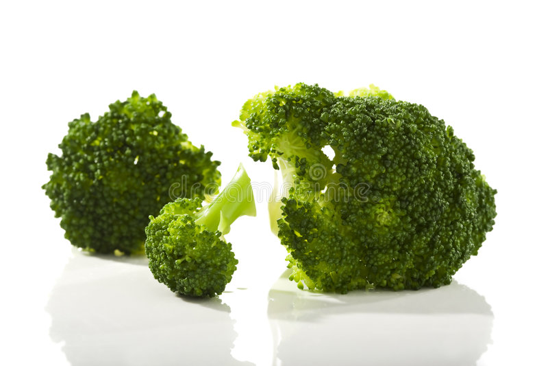 Broccoli florets royalty free stock photos