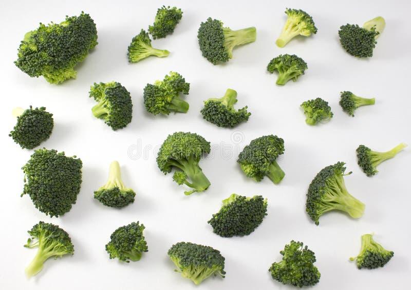 Broccoli frais d'isolement sur le fond blanc images libres de droits