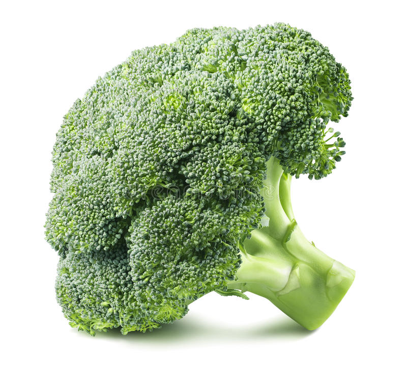 Free Broccoli Head Side Isolated On White Background 2 Stock Photos - 71168683