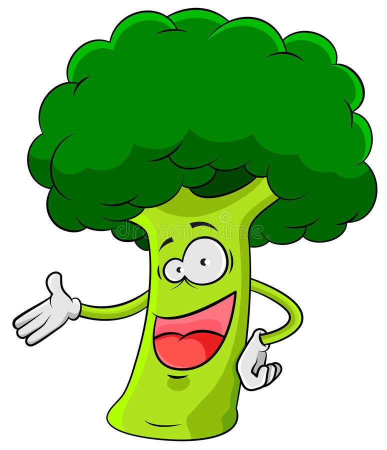 Broccoli heureux illustration libre de droits