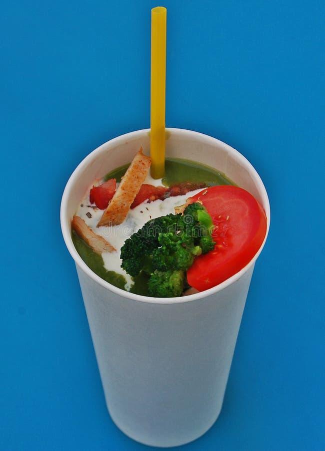 Broccoli lagar mat med grädde soppa royaltyfria bilder