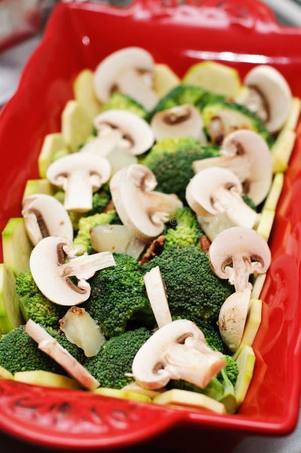Download Broccoli and mushrooms stock image. Image of broccoli - 23331395