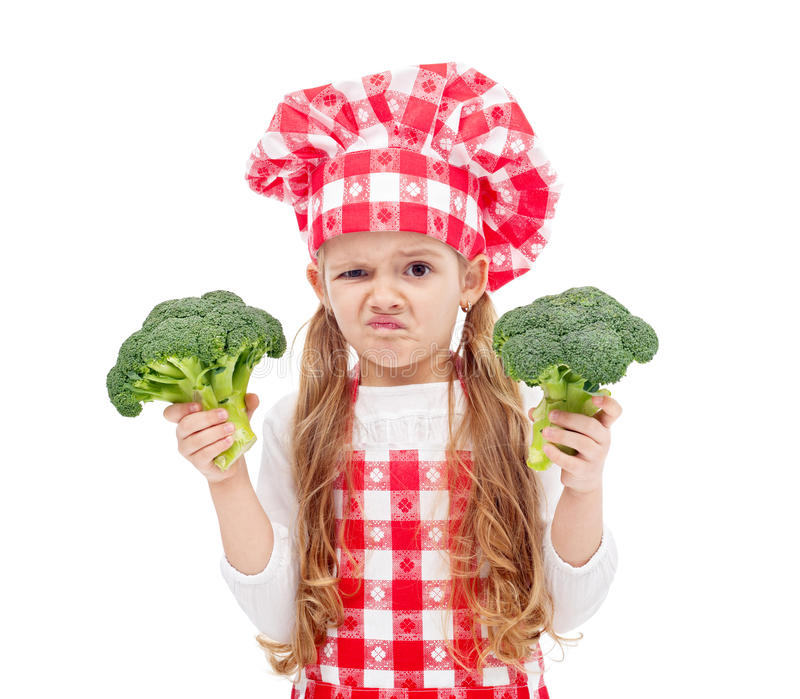 Broccoli opnieuw? stock afbeelding