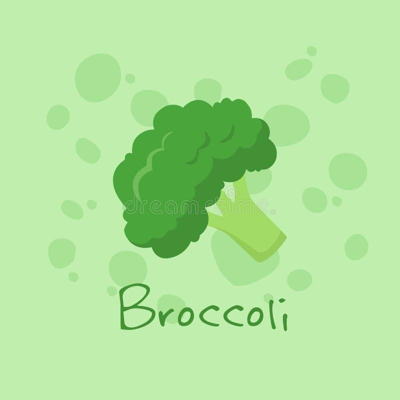 Broccoli Plantaardige Vector vector illustratie