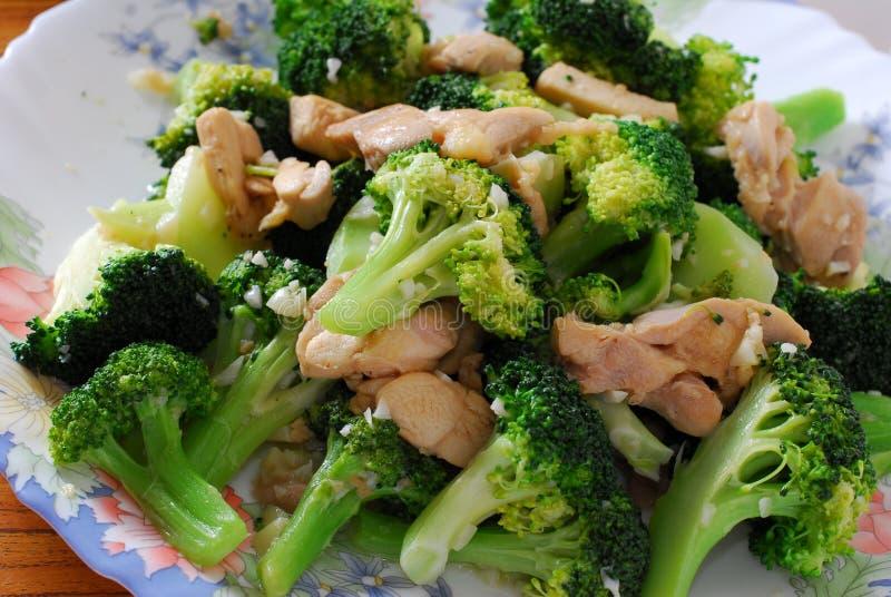 Broccoli and pork stock photos