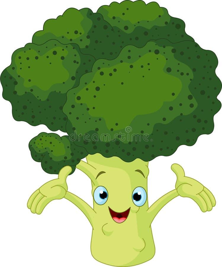 Broccoli Presenting Something royalty free illustration