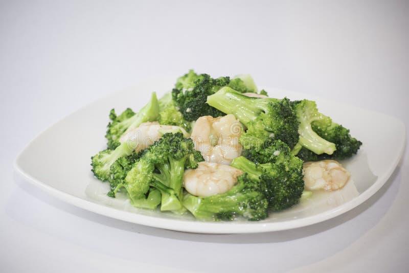 Broccoli & räka arkivbilder