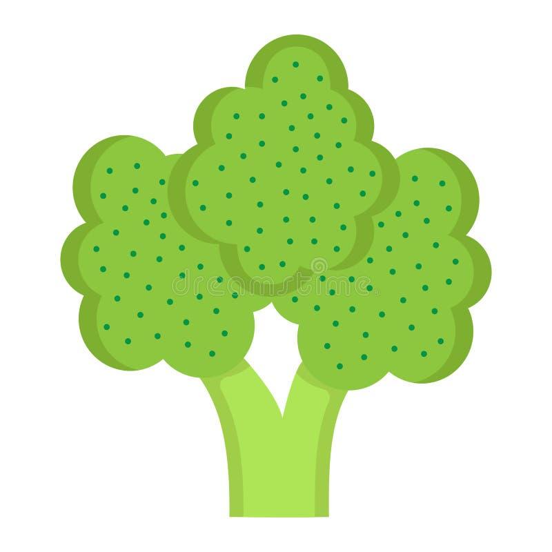 Broccoli sänker symbolen, grönsak och bantar stock illustrationer