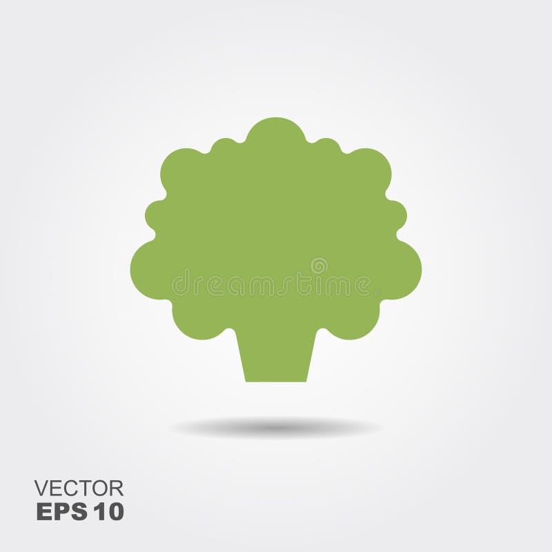 Broccoli sänker symbolsvektorn, den färgrika logoillustrationen som isoleras på vit royaltyfri illustrationer