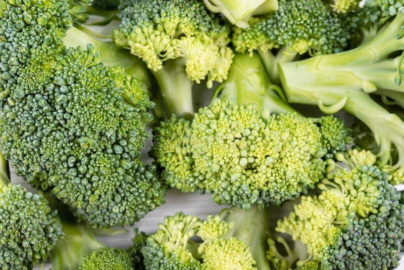 Broccoli sluiten op als achtergrond van bovenaanzicht royalty-vrije stock afbeeldingen