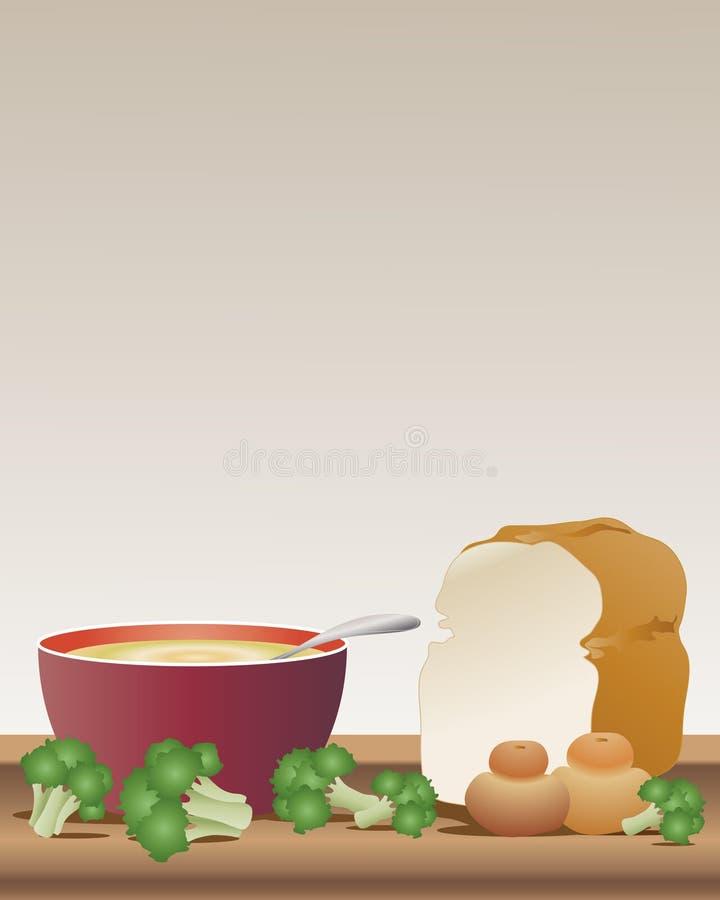 Download Broccoli soup stock vector. Image of culinary, broccoli - 16733526