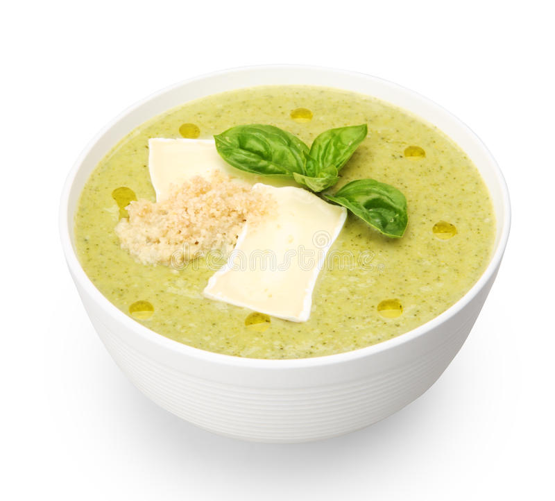 Download Broccoli soup stock image. Image of brie, basil, vitamins - 23841215