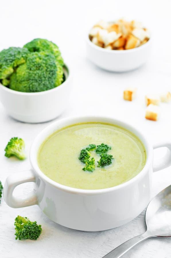 Broccoli soup puree royalty free stock photo