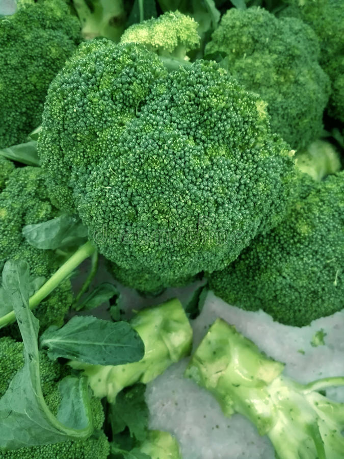 Broccoli variopinti freschi fotografia stock libera da diritti