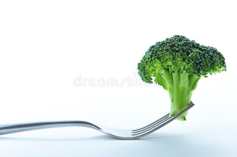 Broccoli in vork stock afbeeldingen