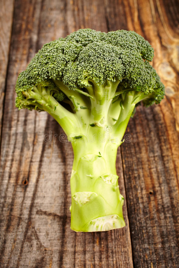 Broccoli On Wooden Board Royalty Free Stock Photo