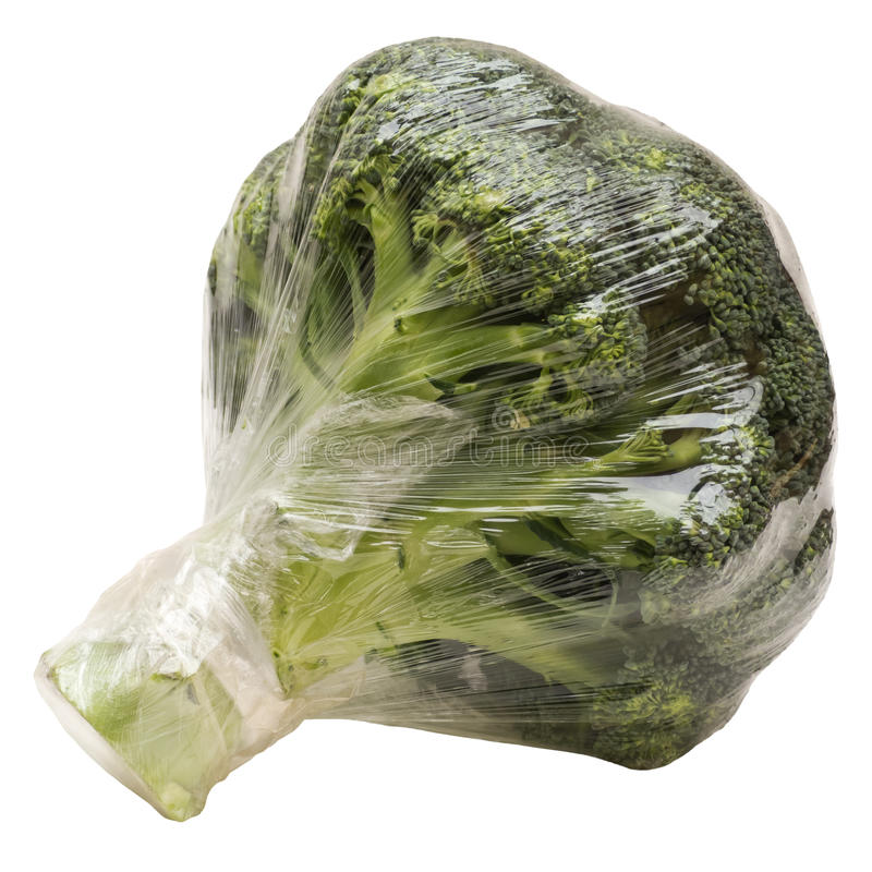 Download Broccoli Wrapped stock photo. Image of retail, uncooked - 23589118