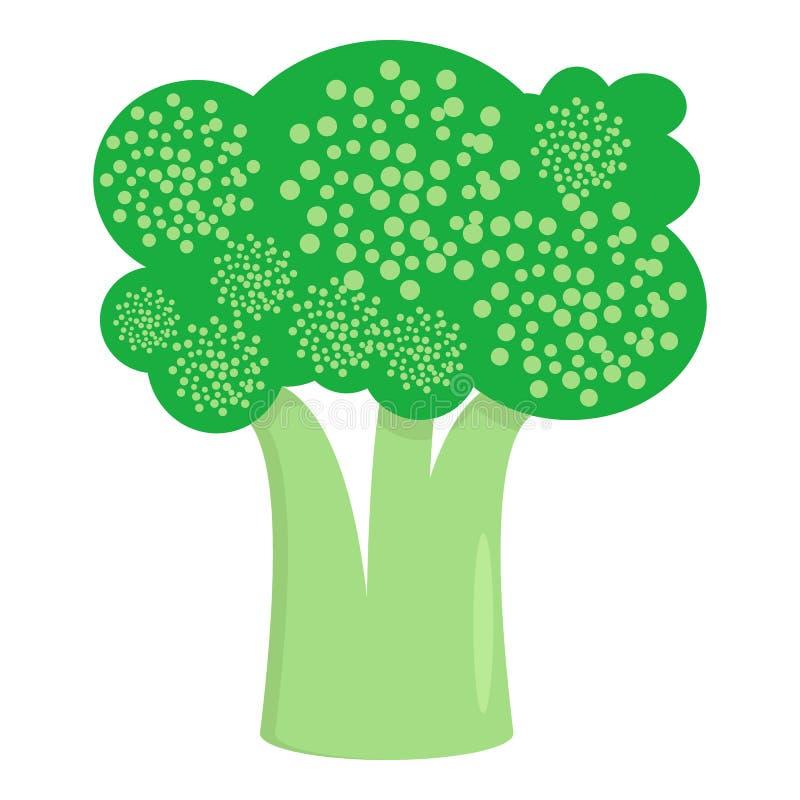 Broccoligrönsaksymbol, vektorillustration royaltyfri illustrationer