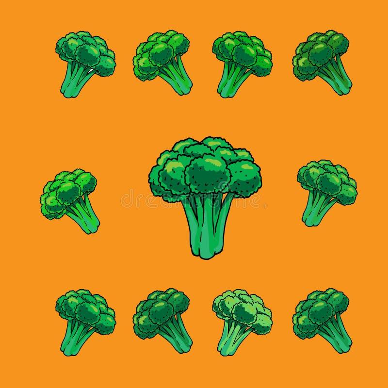 Broccoligrönsaksymboler, tecknad film arkivfoton