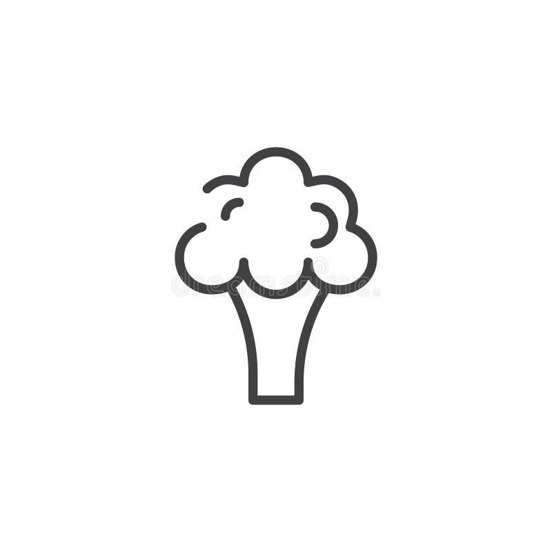 Broccolilinje symbol royaltyfri illustrationer