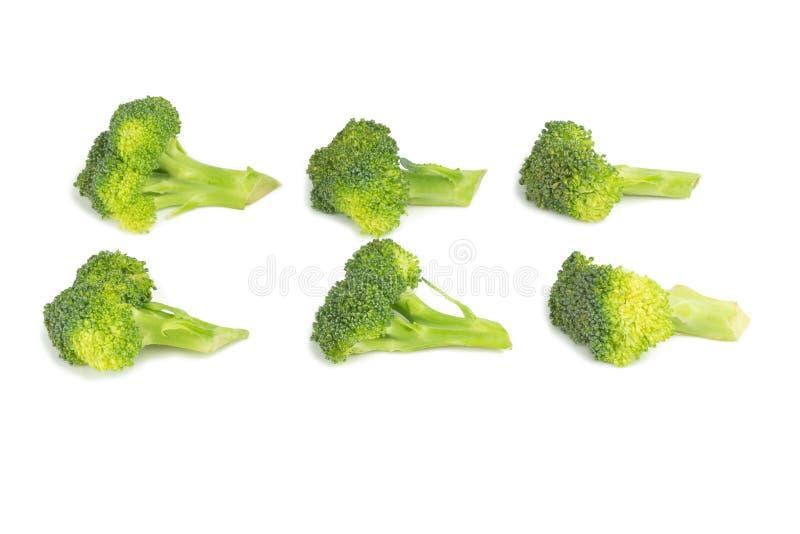 Broccoliskiva bakgrund isolerad white royaltyfri foto