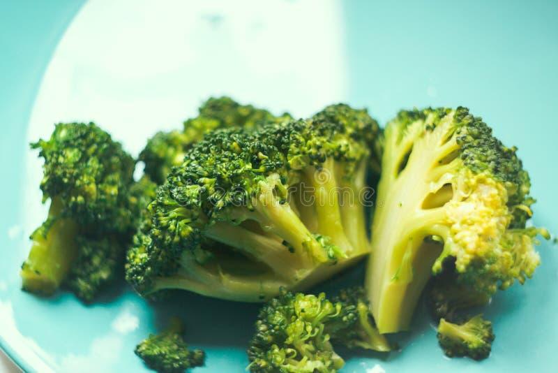 Broccolo cucinato immagine stock