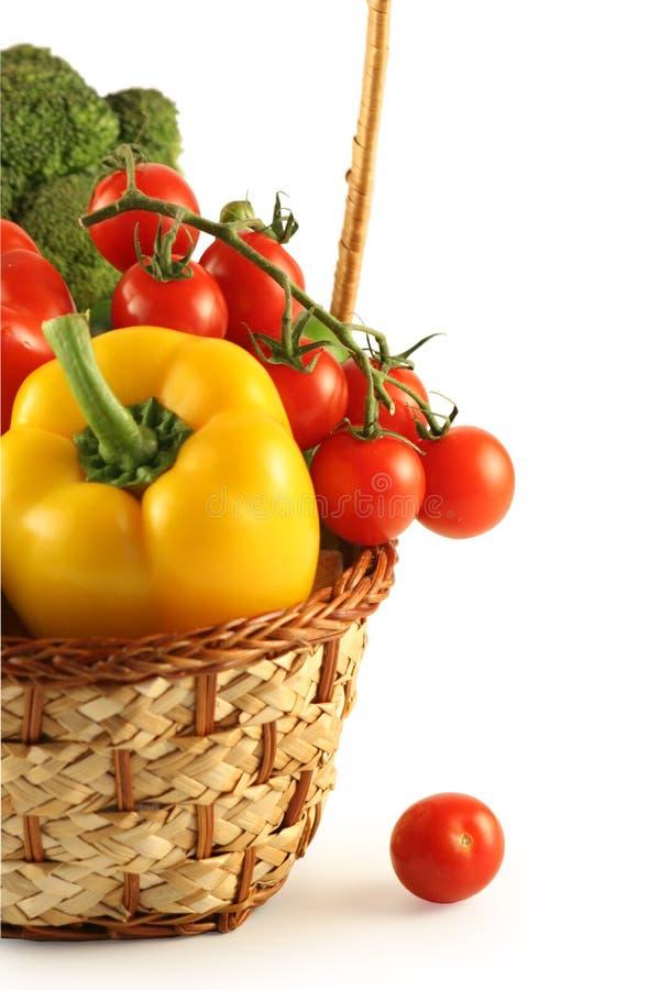 Broccolo, pepe e pomodori fotografia stock libera da diritti