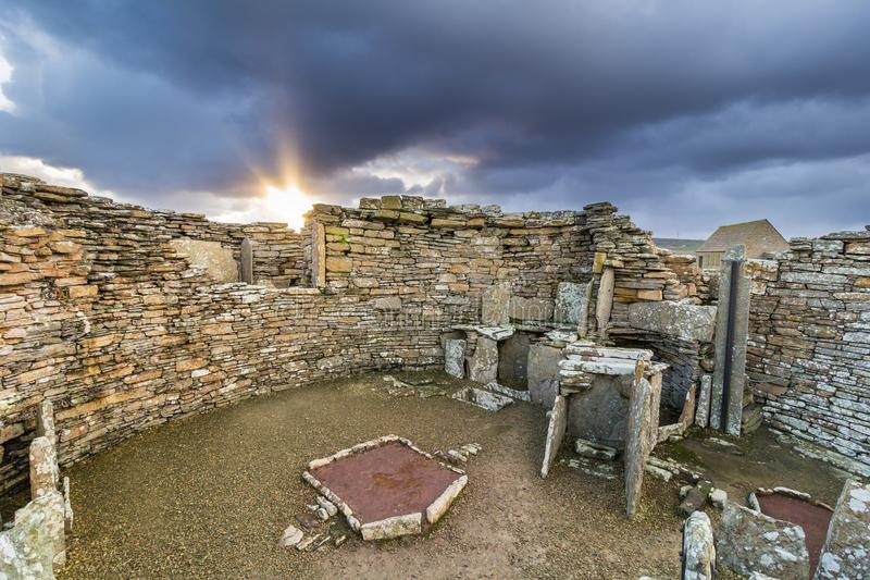 Broch of Gurness stock photo