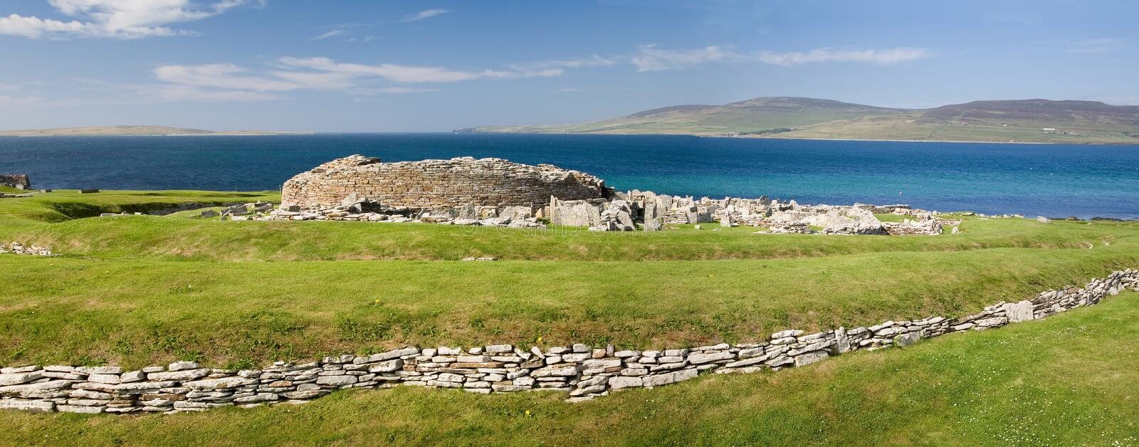Download Broch of Gurness panorama stock image. Image of scottish - 7704873